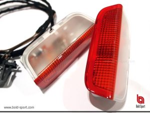 Door warning lights housing with 3D LED lights