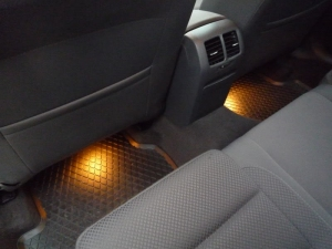 Rear footwell lights