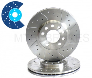MTEC Drilled / Grooved Discs 312mm